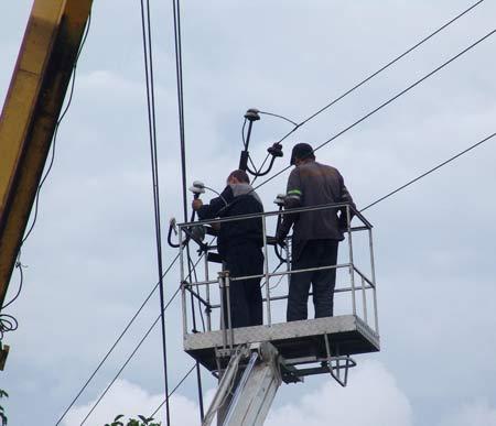 группа электриков на выезде