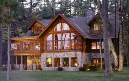 элитный дом из бревна фото