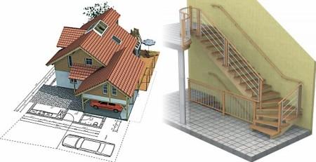 В чертежах домов программу по планировке