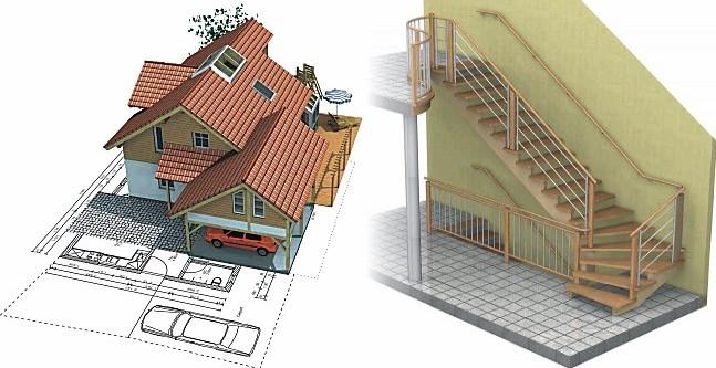 эскизы и чертежи частного дома
