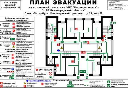 выходы план эвакуации