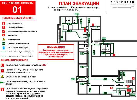 план эвакуации предприятия