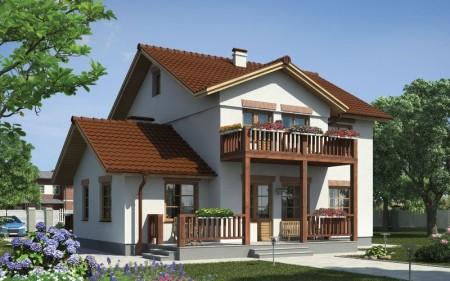фасад дома в скандинавском стиле