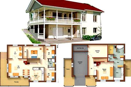 Проекты домов из пеноблоков и газобетона с планировкой