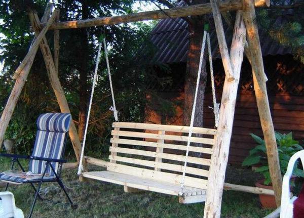 кресла на веревках