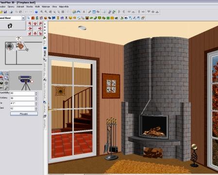 гостиная в FloorPlan 3D