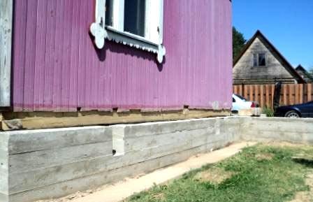 ремонт фундамента дача дом
