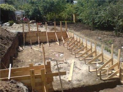 фундамент дома из соломы