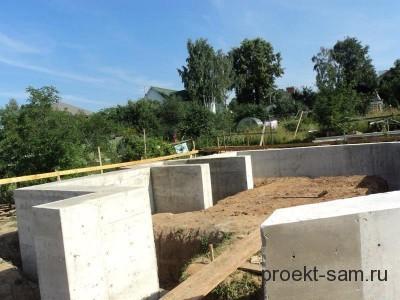 фундамент дома из газосиликатных блоков