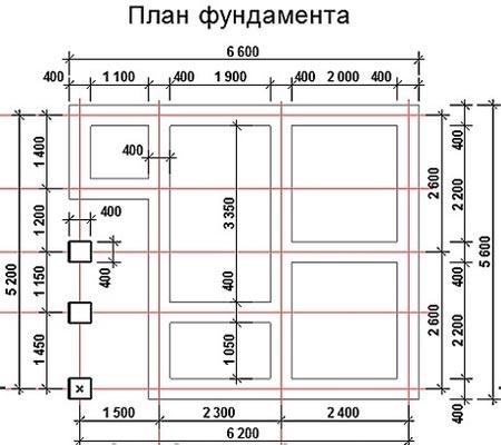 план фундамента