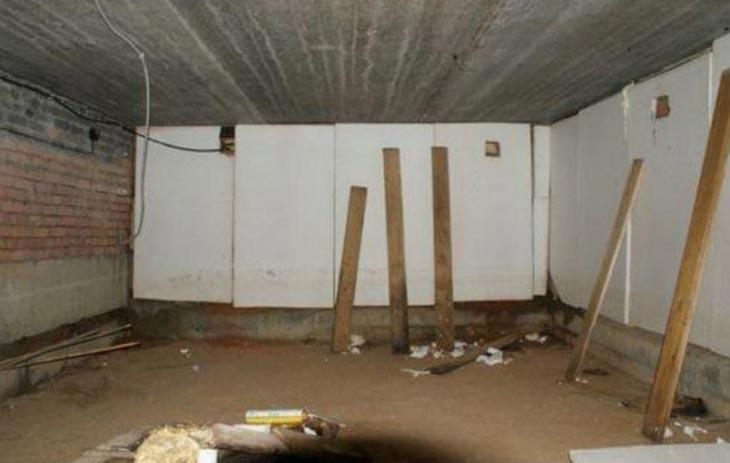 пенополистирол в подвале