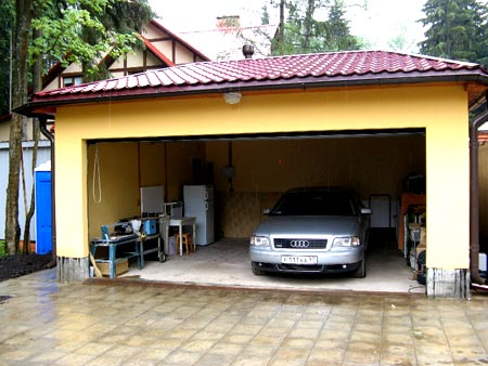 гараж на даче