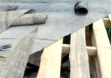 гидроизоляция крыши беседки