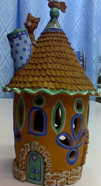 домик из глины