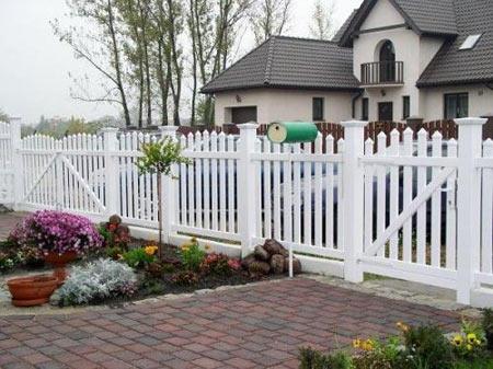 готовый пластиковый забор