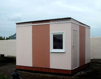 сарай с односкатной крышей