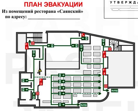графическая часть план эвакуации