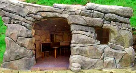 беседки из камня с мангалом фото