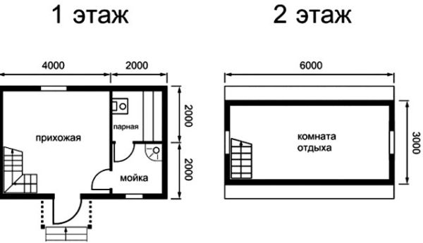 план двух этажей