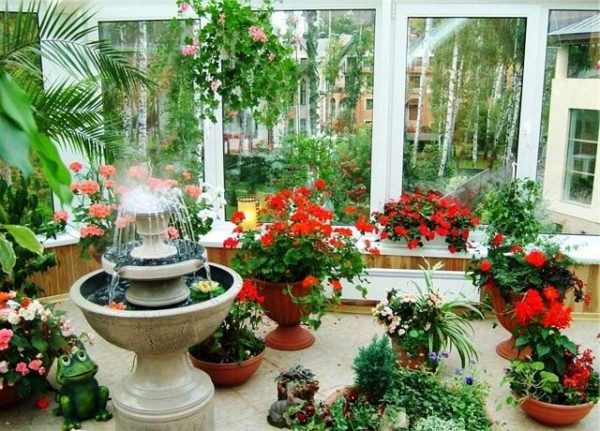 фонтан в зимнем саду