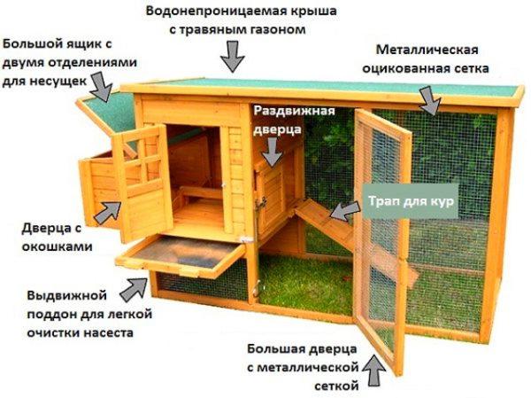 домик для кур