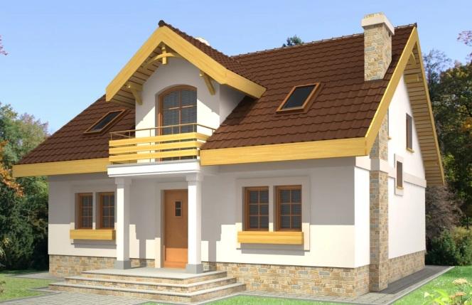 Крыша с мезонином по центру