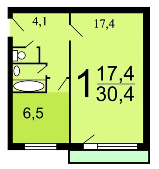 Квартира в доме 335 серии