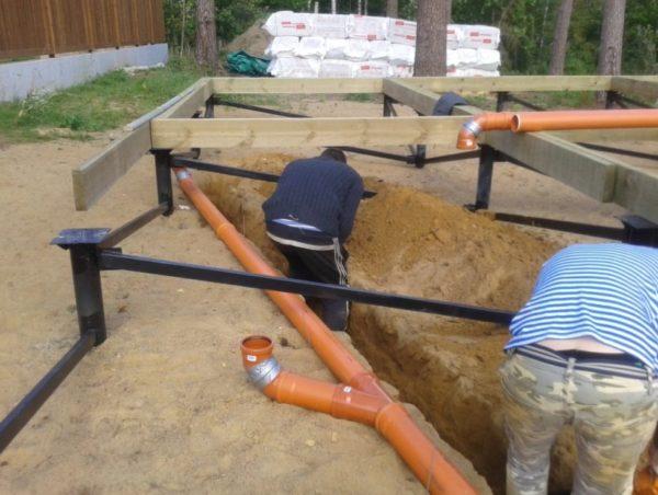 подготовка канализационного ввода