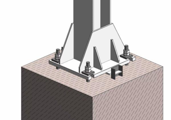 крепление колонны