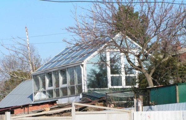 расположение на крыше