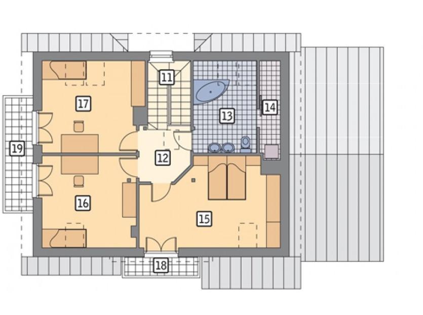 Второй этаж частного дома
