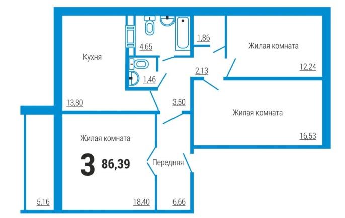 Квартира 23 квадрата