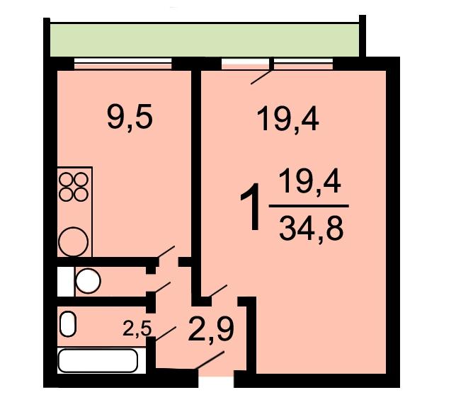 Квартира в доме И-209а