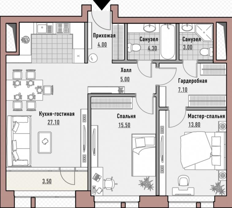 Планировка элитной квартиры