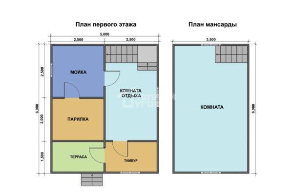 этаж и мансарда