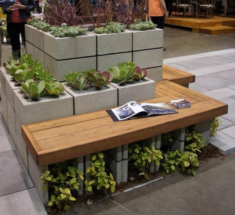 бетонные блоки как основа
