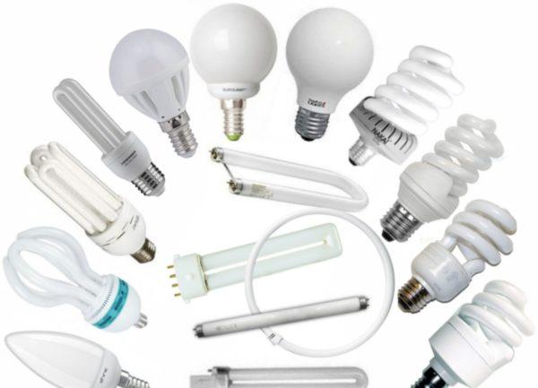 виды ламп