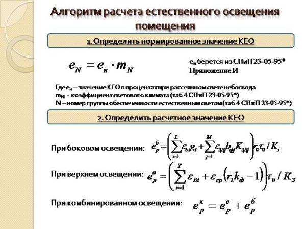 формулы расчета