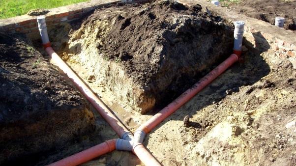 Заглубление канализационных труб