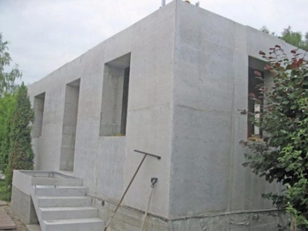 коттедж из бетона