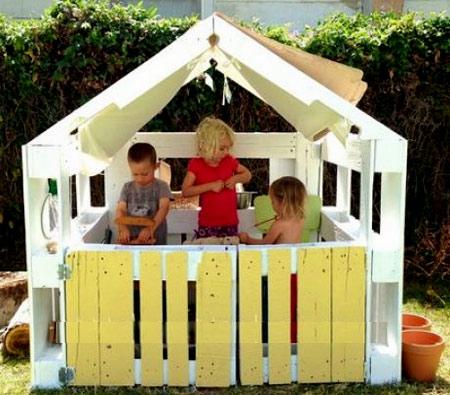 Домик для детей своими руками из поддонов