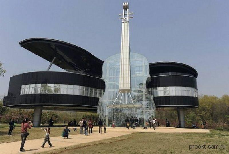 дом со скрипкой в Китае