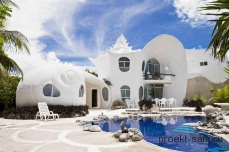 дом ракушка на острове Мухерес
