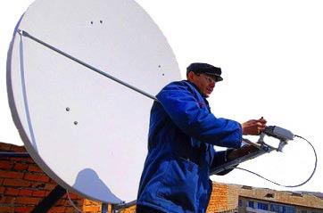 Установка антенны на крыше многоквартирного дома