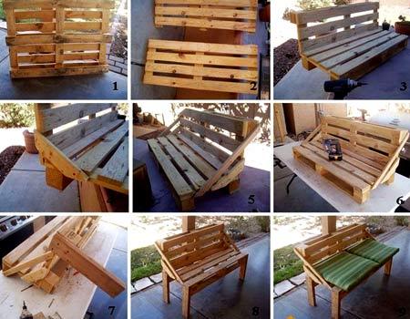 инструкция скамейка из поддонов