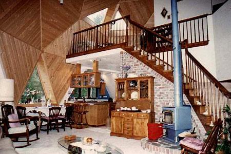 интерьер сферического дома