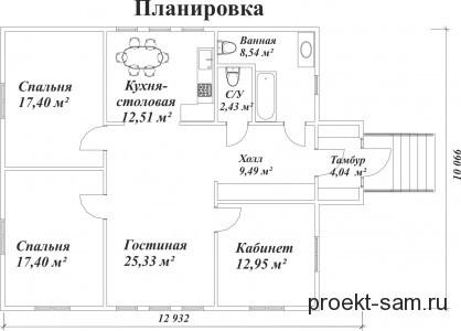 интересная планировка дома