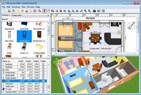 интерфейс программы для моделирования мебели