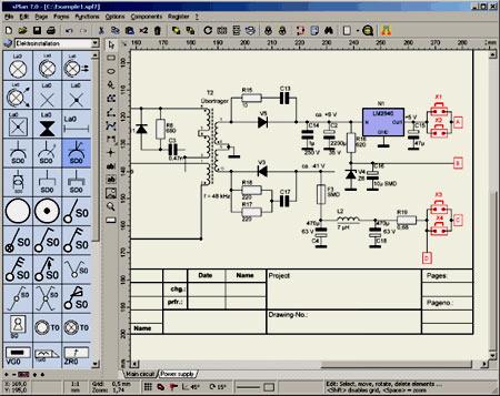 интерфейс программы Splan