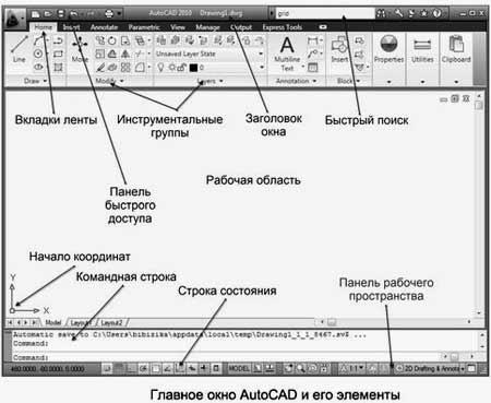 Интерфейс Autocad